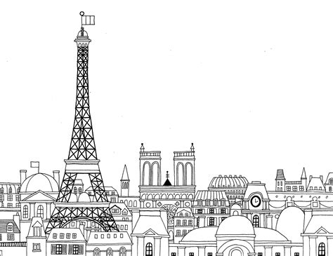 free paris coloring pages