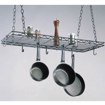 Pull Out Hanging Pot Rack by Rectangular Pot Racks Of Hammered Steel Stainless Steel