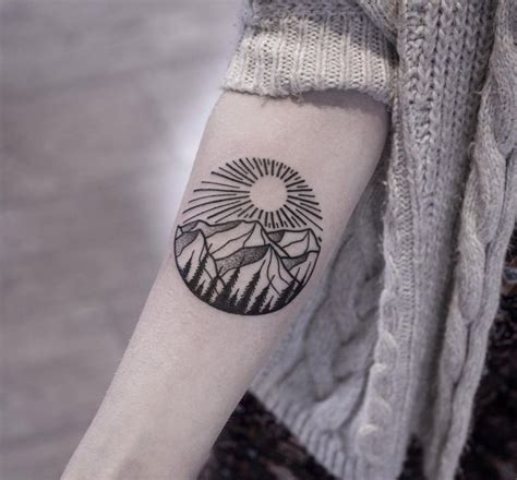 geometric tattoo colorado 25 best ideas about mountain tattoos on pinterest