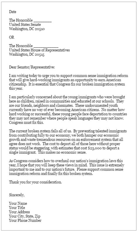 letter to a congressman template take island wins