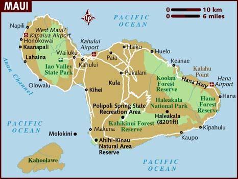 printable road map maui hawaii map of maui