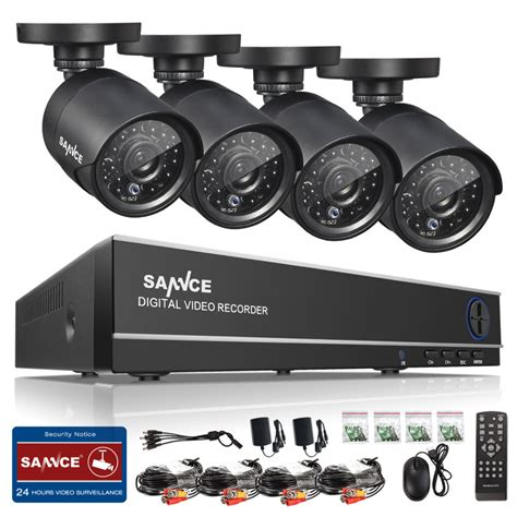 1 Set Cctv Outdoor sannce hd 4ch cctv system 960h 1080p hdmi dvr kit 800tvl