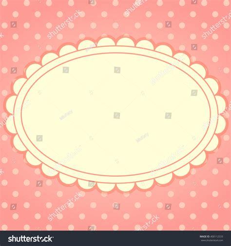 card frame template 2x2 vector card frame polka dot background stock vector