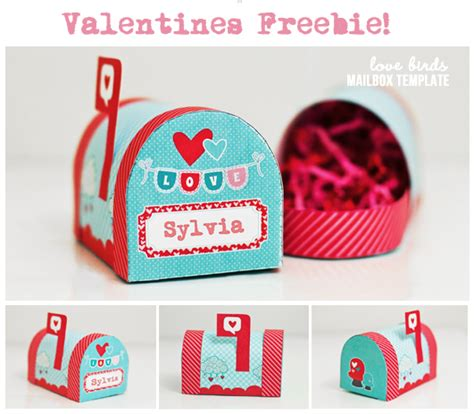 templates for valentines day boxes 4 best images of printable valentine mailbox free