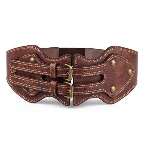 fashion wide corset buckle waist belt stretch