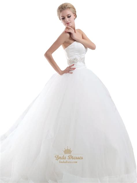 ivory beaded wedding dress ivory sweetheart dropped waist tulle wedding dresses with