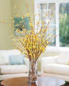 enjoy spring longer with forsythia silk flower arrangement