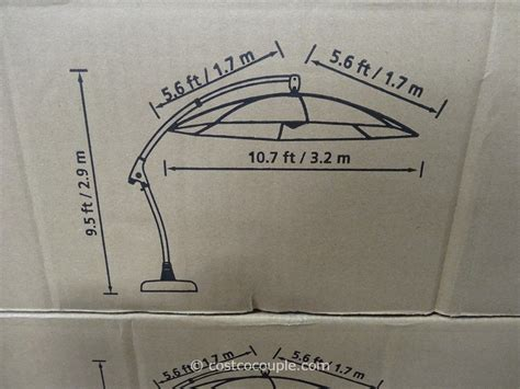 11 Foot Patio Umbrella Costco by 11 Foot Parisol Cantilever Umbrella
