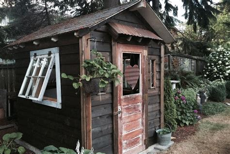 Rustic Potting Sheds by How To Repurpose Playhouse Into Rustic Potting Shed Nw