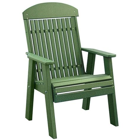 Recycled Plastic Lawn Chairs by Luxcraft Classic Highback Recycled Plastic Outdoor Chair