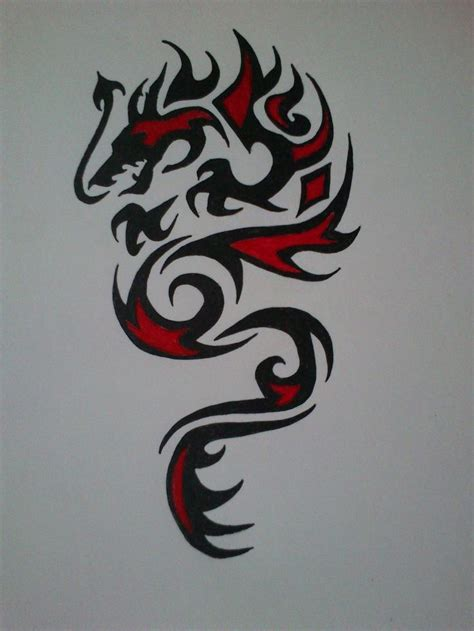tribal dragon tattoo for men 17 best images about ideas on cross