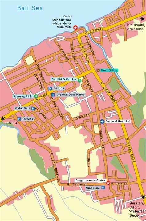 map singaraja bali singaraja map bali map