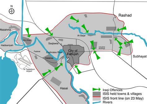 map of iraq fallujah battle of fallujah 2016