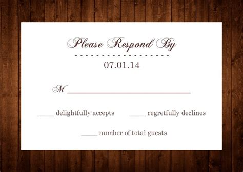 rsvp reply template rsvp by wording images