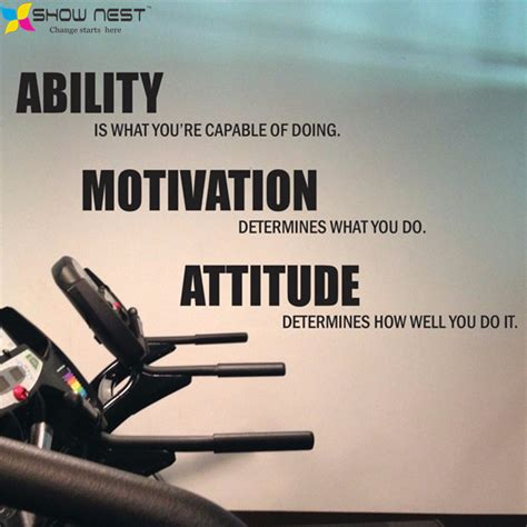 Teal Wall Art Stickers gym motivational quote wall decal vinyl stickers ability