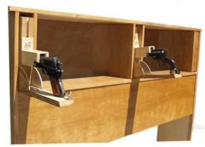 Headboard Gun Safe Headboard With Easy Access Handgun Compartments Stashvault