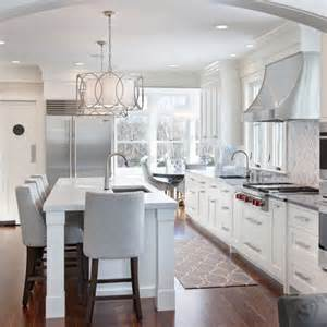 Transitional Kitchen Lighting Beautiful White Grey Kitchen Kitchen Reno Grey Cabinets And Islands