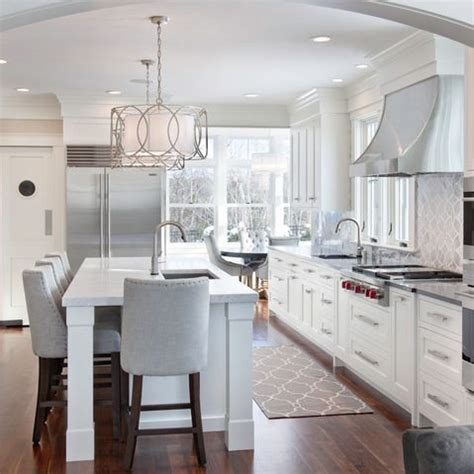 White Kitchen Light Fixtures Beautiful White Grey Kitchen Kitchen Reno Pinterest Grey Cabinets And Islands