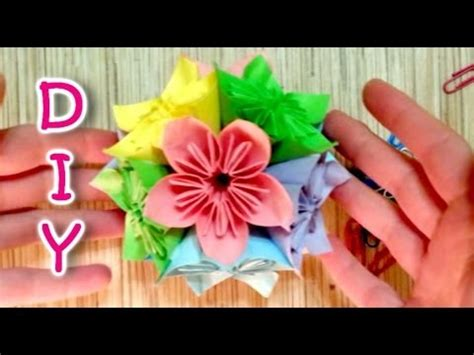 How To Make Japanese Paper Flowers - how to make a kusudama japanese flower made of