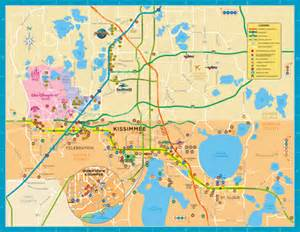 custom travel maps kissimmeee florida map