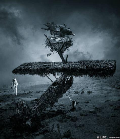 imagenes surrealistas de rock 35个超现实主义风格图片处理作品 3 插画设计作品 第七城市