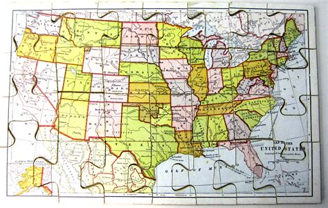 usa map jigsaw level one usa map geography