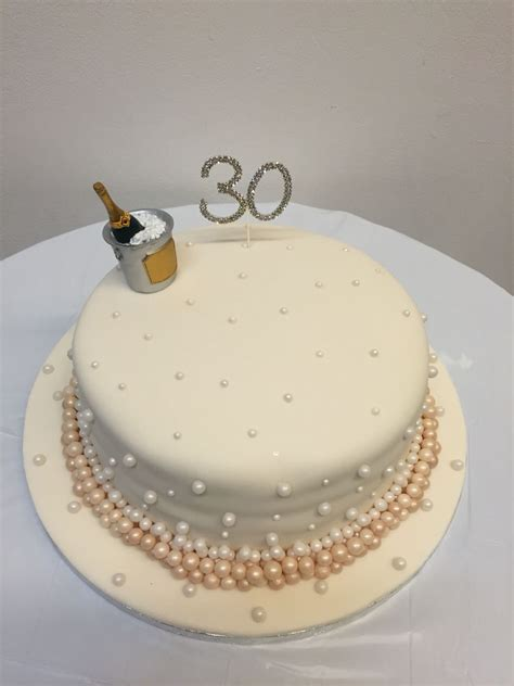 pearl wedding anniversary cake lemon cake