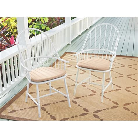 white aluminium outdoor dining chairs martha stewart living blue hill white aluminum outdoor