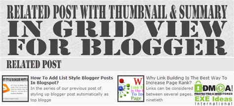 jquery mobile grid exle new related post with thumbnail and summary in grid view