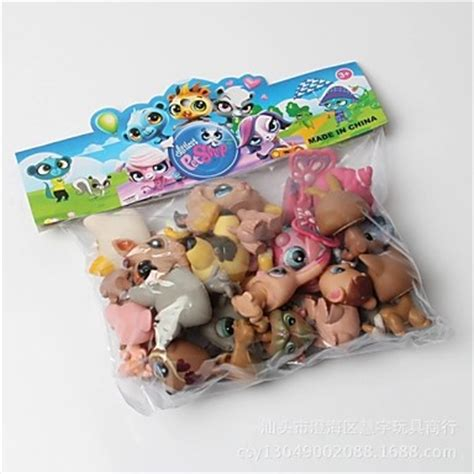 lps dogs for sale 20pcs set original littlest pet shop figures can rotate pet shop dolls toys with lps