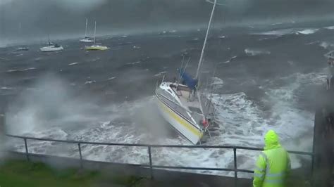 sailing boat in a storm storm crashes a sailing yacht youtube