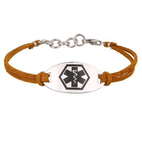 Cinnamon Suede Medical ID Bracelet for Women by American Medical ID