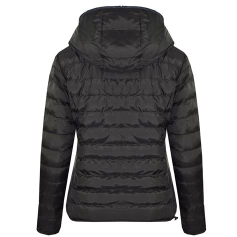 Reversible Puffer Jacket new womens hooded reversible zip up puffa quilted padded