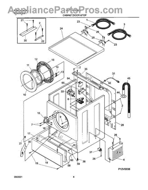 frigidaire washer parts diagram frigidaire washer parts diagram 28 images cabinet top