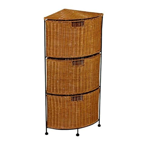 Rattan Drawer Storage Unit by 3 Drawer Wicker Corner Storage Unit From Kohl S