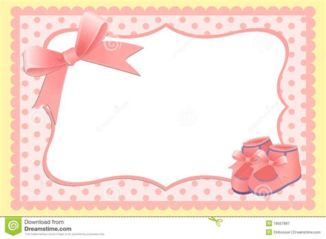 baby birthday card template template for baby s card stock vector illustration