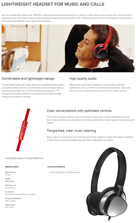 Creative Hitz Ma2300 Premium Headphone Headset For And Calls pc gear product not found