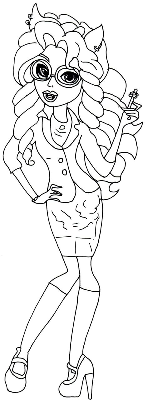 monster high coloring pages howleen wolf free printable monster high coloring pages december 2013