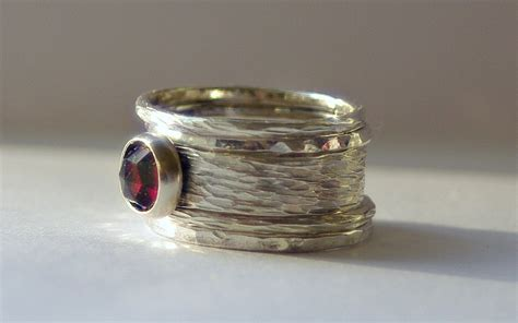 Unique Handmade Wedding Rings - unique rustic earthy stacking renaissance wedding