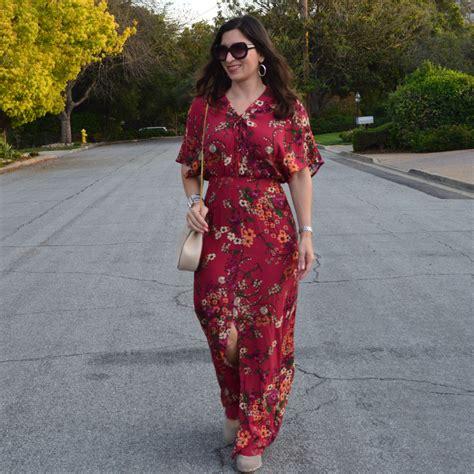 Flower Dress Pink Autumn Maxi Dress Dress floral maxi dress for bay area fashionista