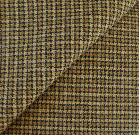 Gold With Black Plaid Felted Wool Fabric Yard By Quiltingacres