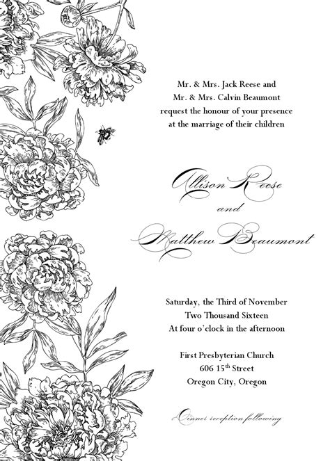 Wedding Clip Template by Formal Wedding Invitation Templates Elite
