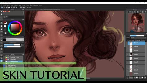 tutorial r youtube medibang semirealism skin tutorial youtube