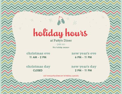 holiday hours flyer christmas flyer