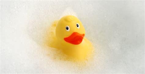 blow up rubber ducky bathtub rubber duck in foam bath by kuhlmotion videohive