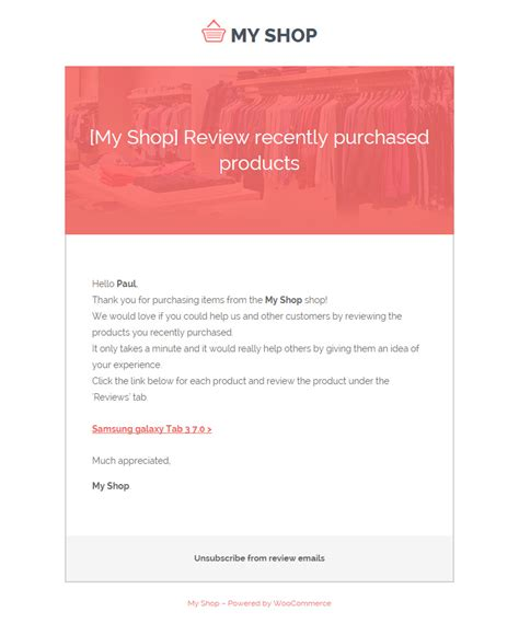 Yith Woocommerce Review Reminder Review Email Template