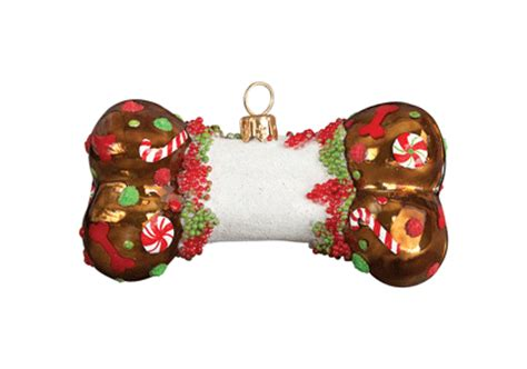 gingerbread diva dog bone christmas ornament by joy to the