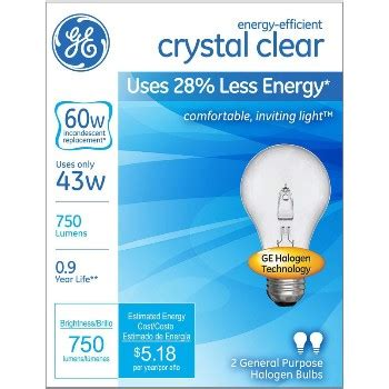 lu industri clear energy 60w buy the general electric 78796 halogen bulb clear energy