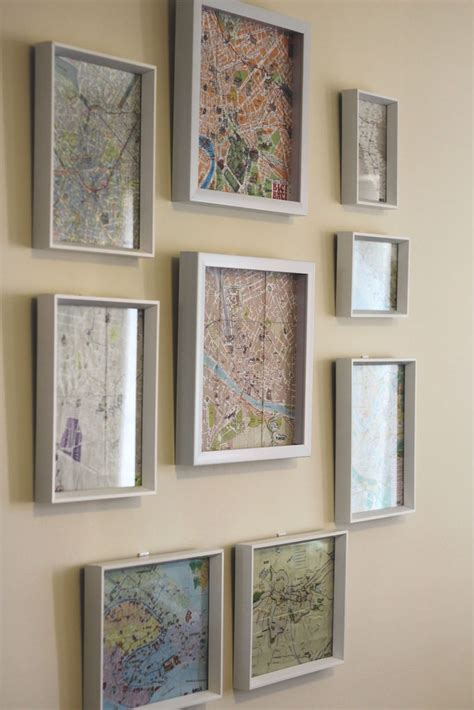 how to hang a map without a frame 1000 images about photo walls frames displays