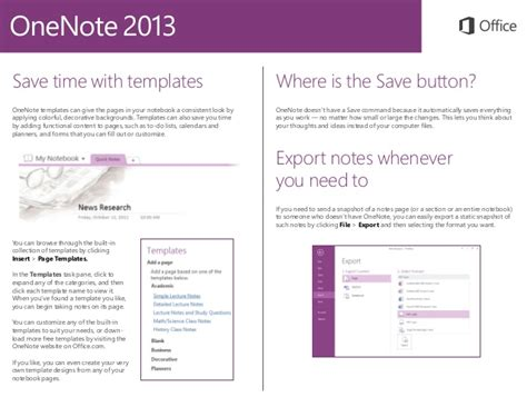 templates for onenote 2013 microsoft onenote 2013 quickstart